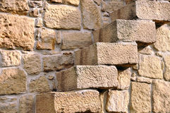 Stairs in Stone Wall Stock Photo