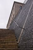 Stairs and stone wall royalty free stock photo