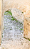 Stairs of stones, the historic building in Matera in Italy UNESCO European Capital of Culture 2019 Stock Photography