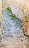Stairs of stones, the historic building near Matera in Italy UNESCO Royalty Free Stock Image