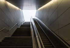 The stairs in subway of Hamburg, Germany.  Royalty Free Stock Image