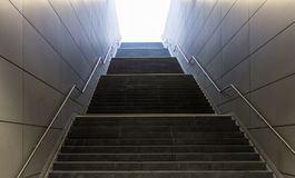 The stairs in subway of Hamburg, Germany.  Royalty Free Stock Photo
