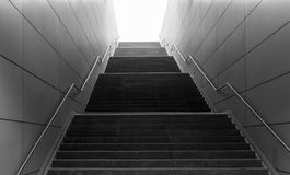 The stairs in subway of Hamburg, Germany.  Stock Image