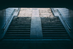 Stairs of subway station Stock Image