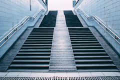 Stairs of subway station Royalty Free Stock Photos