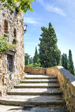 Stairs in sunny Pienza Royalty Free Stock Photo
