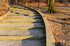Stairs at Sunset Royalty Free Stock Photos
