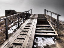 Stairs at Suomenlinna Royalty Free Stock Images