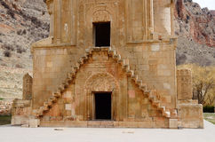Stairs of Surb Astvatsatsin church in Noravank,Armenia Stock Images