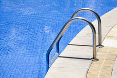 Stairs of  swimming pool Stock Photo