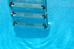 Stairs of the swimming pool Royalty Free Stock Photography