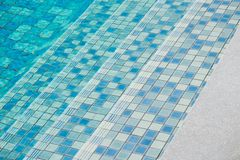 Stairs in swimming pool, Blue tile textured. Stairs in swimming pool, Blue tile textured, water background royalty free stock images