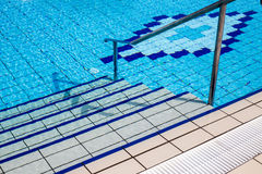 Stairs of the swimming pool Royalty Free Stock Images