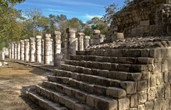 Stairs at the Temple of the Warriors, Chichen Itza Stock Photos