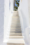 Stairs in Tinos Island,Greece Royalty Free Stock Photography