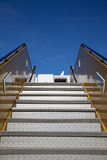 Stairs to the aircraft Stock Images