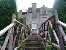 Stairs to an ancient castle in Wales, UK Royalty Free Stock Photos