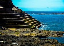 Stairs to Atlantic Ocean. Stairs in to Atlantic Ocean at Kilkee beach in Ireland Royalty Free Stock Image