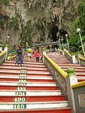 Stairs to Batu Caves Temple Stock Image