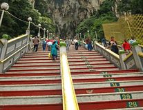 Stairs to Batu Caves Temple Royalty Free Stock Photography