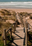 Stairs to the beach. Stairs leading to the beach and sea Stock Images