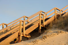 Stairs to the Beach of Sylt Stock Photos