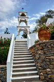 Stairs to the bell tower of the Orthodox church Stock Photo