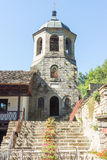 Stairs to the bell tower of the Troyan Monastery, Bulgaria Stock Photo