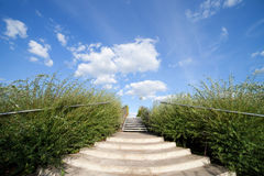 Stairs to the Big Blue Sky Stock Images