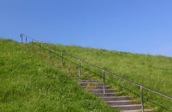 Stairs to blue sky Stock Image