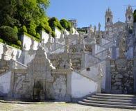 Stairs to Bom Jesus Do Monte Stock Photos