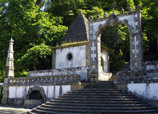 The stairs to the Bom Jesus do Monte in Braga, Portugal Stock Images