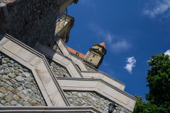 Stairs to Bratislava castle. Sky and clouds Stock Photography