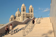 Stairs to The cathédrale Royalty Free Stock Image