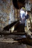 Stairs to cave Royalty Free Stock Photo