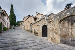 Stairs to chapel in Pollensa on Mallorca. Stock Image