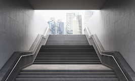 Stairs to the city Stock Image
