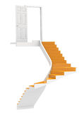 Stairs to Copy-Space. Stairs up to Copy-Space Royalty Free Stock Photo