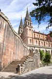 Stairs to Covadonga basilica Stock Photo