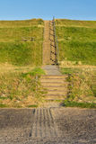 Stairs to cross a Dutch dyke Stock Images