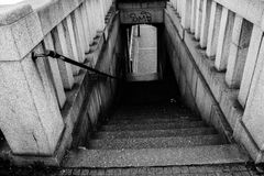 Stairs to the darkness Royalty Free Stock Images
