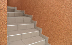 Stairs to descend or ascend. Stairs stairs to descend or ascend the interior Royalty Free Stock Photo