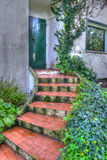 Stairs to the door in hdr Stock Images
