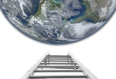 Stairs to the Earth concept. Elements of this image furnished by NASA stock photo