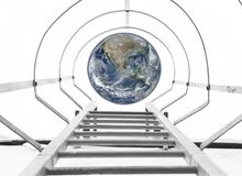 Stairs to the Earth concept. Elements of this image furnished by NASA royalty free stock image