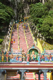 Stairs to entrance of Batu Caves Malaysia Royalty Free Stock Image