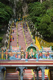 Stairs to entrance of Batu Caves Malaysia Stock Photography