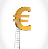 Stairs to euro currency symbol illustration. Design over white Stock Images