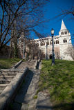 Stairs to Fisherman's Bastion, Budapest, Hungary Royalty Free Stock Images