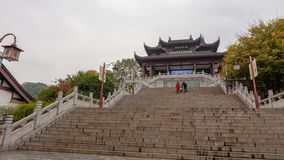 Stairs to a gateway in Wuhan, China royalty free stock photos